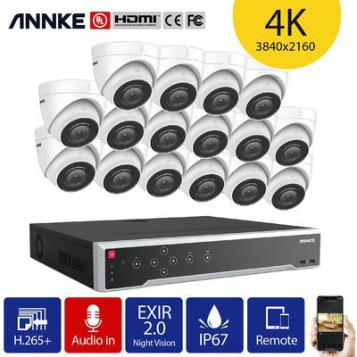 8CH Système de sécurité vidéo réseau Super HD PoE 5MP 4 caméras style A – 2TB - Annke