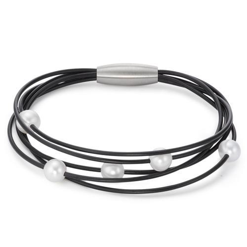 TeNo Perlarmband aus Kautschuk und TeNo Protect. Magnetschliesse