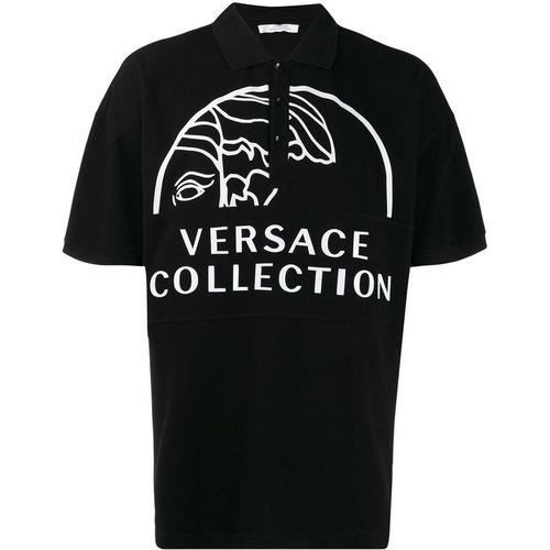 Versace Poloshirt mit Logo-Print