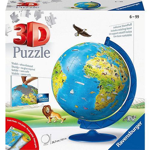 3D-Puzzle Kinder-Globus Ø20cm, 180 Teile, inkl. Poster