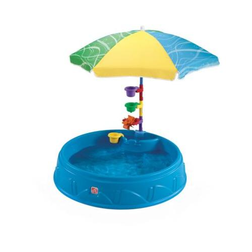 Planschbecken Play & Shade mit Sonnenschirm
