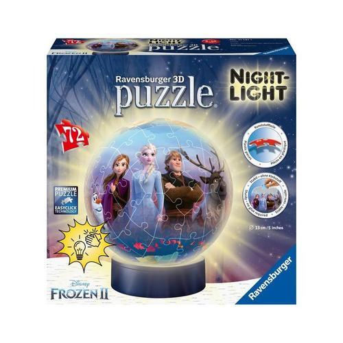 2in1 Nachtlicht & puzzleball® Ø13 cm, 72 Teile, Die Eiskönigin