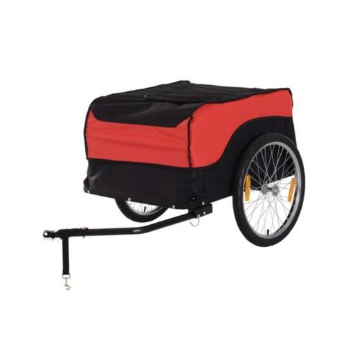 Transportanhänger fürs Fahrrad schwarz/rot Erwachsene