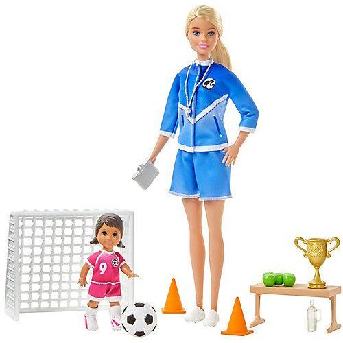 Barbie Fußballtrainerin Puppe (blond) und Zubehör