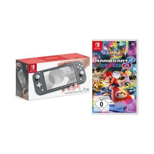 Nintendo Switch Lite Konsole, grau inkl. Nintendo Switch Mario Kart 8 Deluxe