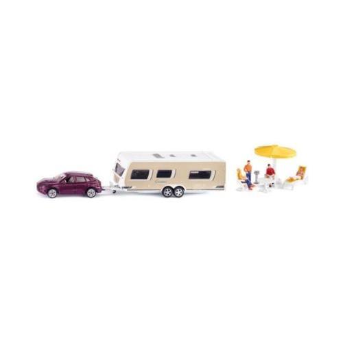 SIKU 2542 PKW mit Wohnwagen 1:55