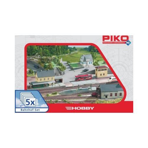 PIKO Spur H0 Bahnhof-Set, 5tlg.