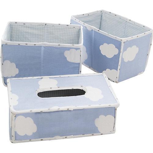 Pflegeorganizer Kleine Wolke, 3er- Set, blau