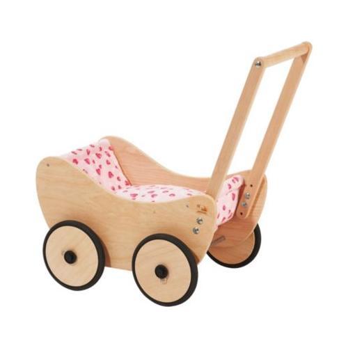 Puppenwagen Trixi inkl. Bettzeug Dessin Herzchen rosa