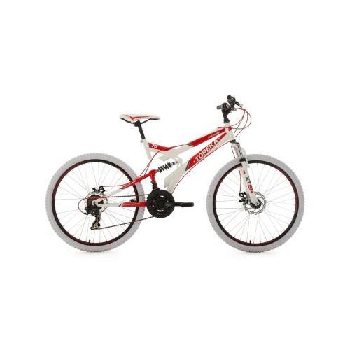 26 Fully Mountainbike 21 Gänge Topeka Mountainbikes, Rahmenhöhe: rot/weiß