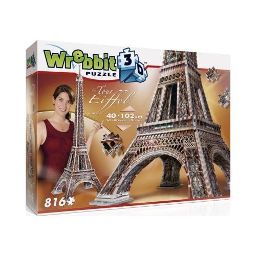 Wrebbit 3D Puzzle 816 Teile Eiffelturm