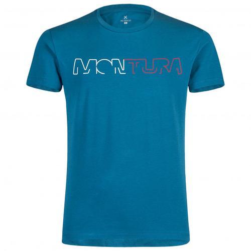 Montura - Brand - T-Shirt Gr S blau