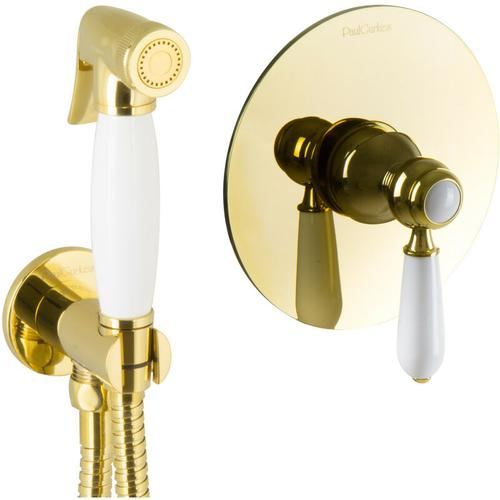Bidet Unterputz Gold Hygienedusche Intimdusche Set Spraybrause