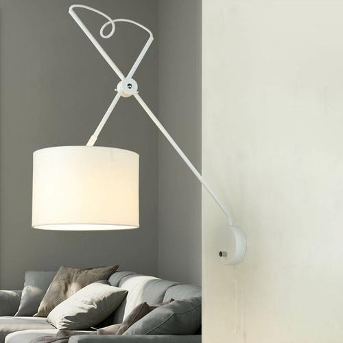 Loft Wandleuchte mit Schalter VIPER flexibel in Weiß