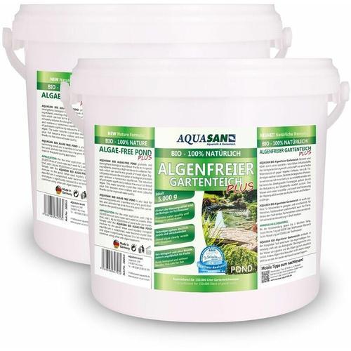 AQUASAN BIO-ALGOLESS Lebendiger Gartenteich PLUS (Fördert die Wasserqualität, reduziert Schadstoffe
