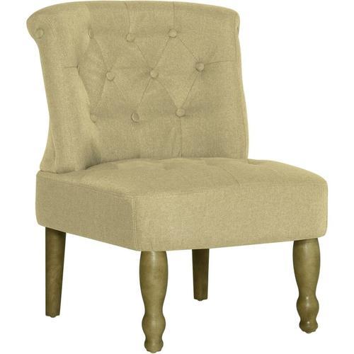 Französischer Stuhl Stoff Grün