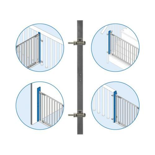 StairFlex, Geländerbefestigungsset, anthrazit