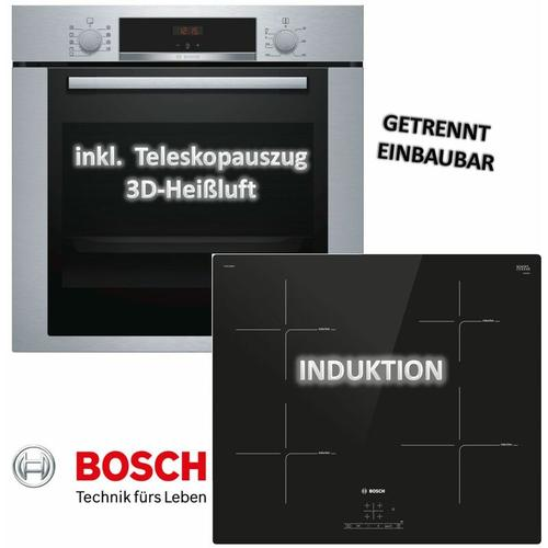 Backofen-Set HBA3140S0 mit Induktions-Kochfeld PUE611BB1E - Bosch