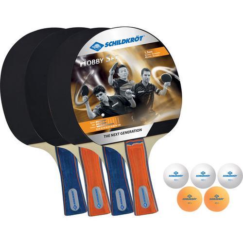 Tischtennis-Schläger-Set, schwarz