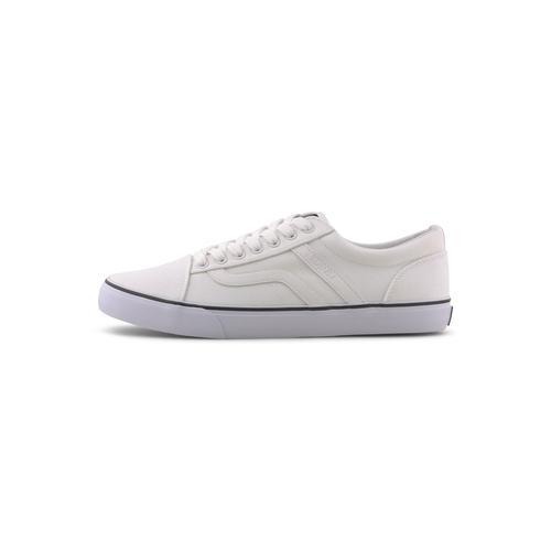 TOM TAILOR DENIM Herren Moderner Sneaker, weiß, Gr.44