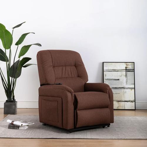 TV-Sessel mit Aufstehhilfe Elektrisch Stoff Braun