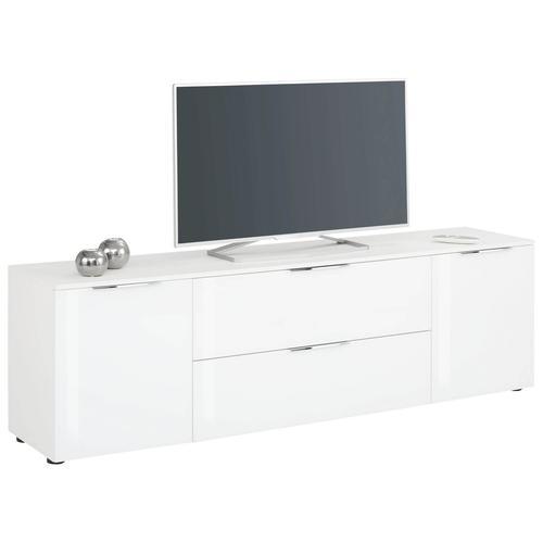 Maja Möbel TREND Lowboard »7820« weiß matt / Weißglas