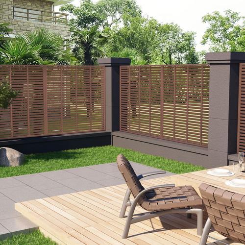 vidaXL Lamellenzaun WPC 170 x 170 cm Braun