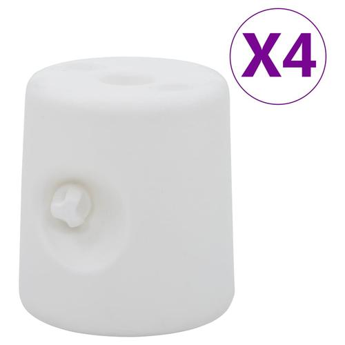 vidaXL Pavillon-Gewichte 4 Stk. PE Weiß