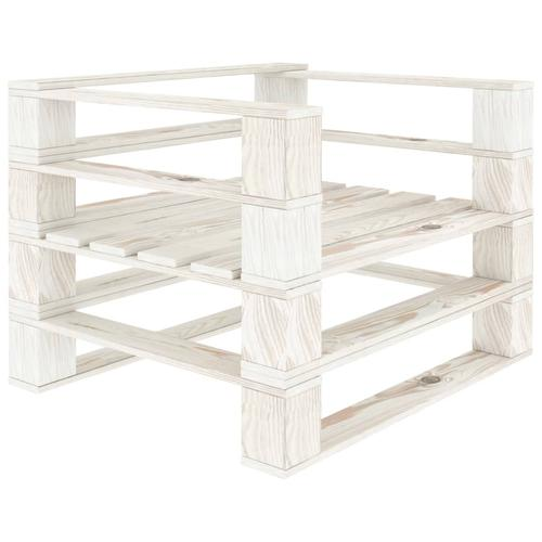 vidaXL Garten-Palettensessel Holz Weiß