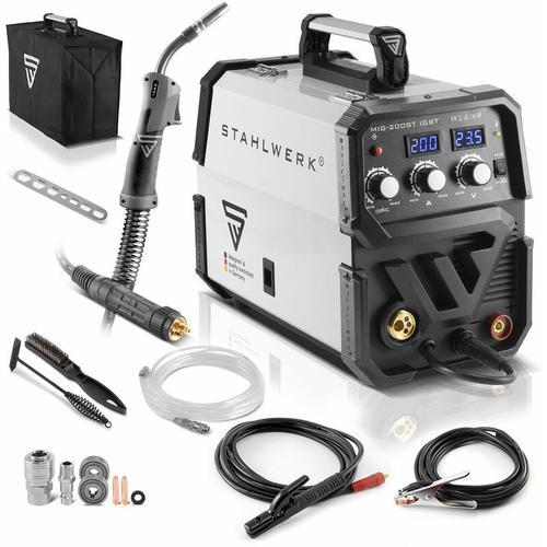 Schweißgerät STAHLWERK MIG 200 ST IGBT - MIG MAG Schutzgas Schweißanlage mit 200 Ampere, MMA
