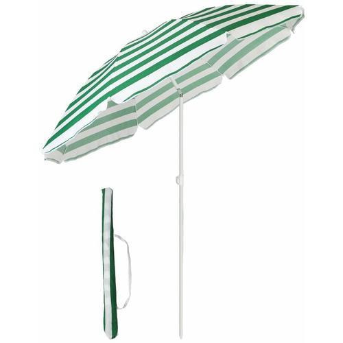 Sekey - Sonnenschirm mit Abdeckhauben 160 cm Marktschirm Gartenschirm Terrassenschirm Rund