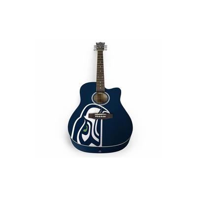 "The Sports Vault Corp NFL 41"" WGA Classic Acoustic Guitar NA Beige Seattle Seahawks"