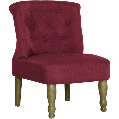 Französischer Stuhl Stoff Weinrot