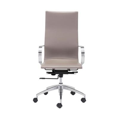 Zuo Taupe Glider High Back Office Chair