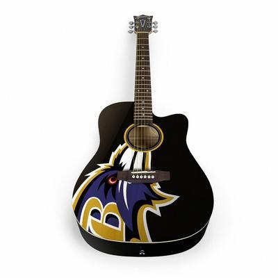 Baltimore Ravens Woodrow Acoustic Guitar