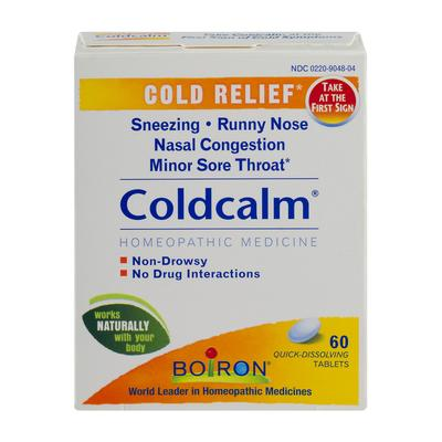 Boiron Coldcalm Homeopathic Medicine Cold Relief Tablets - 60 Count (Pack of 6)