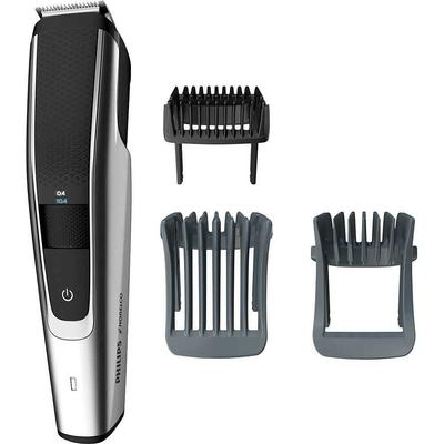 Philips Norelco - 5000 series Trimmer with 3 Guide Combs Black/Silver BT5511 NEW