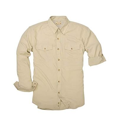 Backpacker Men's Expedition Travel Shirt Birch Size X-Large Tall