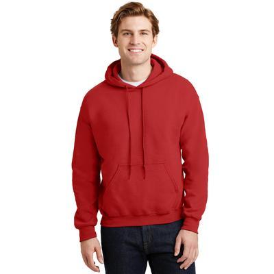 Gildan G185 Adult Heavy Blend 8 oz. 50/50 Hood T-Shirt in Red size Medium | Cotton Polyester G18500, 18500