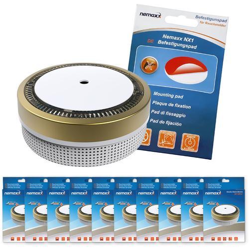 10x M1-Mini Rauchmelder - sensibler, photoelektrischer Rauchwarnmelder mit Lithiumbatterie Typ DC3V