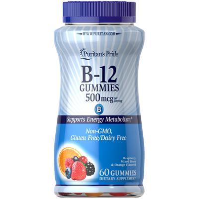 Puritan's Pride Vitamin B12 Gummies 500 mcg-60 Gummies
