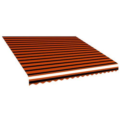vidaXL Markisenbespannung Canvas Orange & Braun 400 x 300 cm