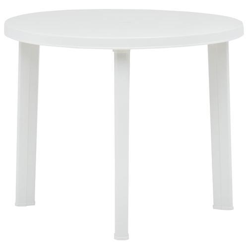 vidaXL Gartentisch Weiß 89 cm Kunststoff