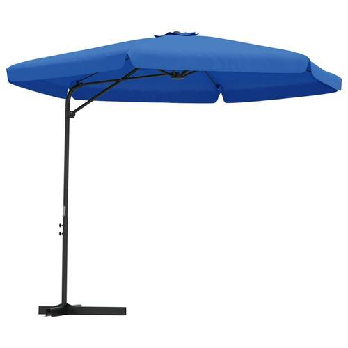vidaXL Sonnenschirm mit Stahlmast 300 cm Azurblau