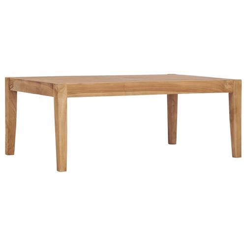 vidaXL Gartentisch 90,5 x 55,5 x 30,5 cm Massivholz Teak