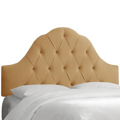 Ada Arch Tufted Headboard by Skyline Furniture in Velvet Honey (Size KING)