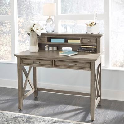 Mountain Lodge Student Desk with Hutch by Homestyles in Multi Gray