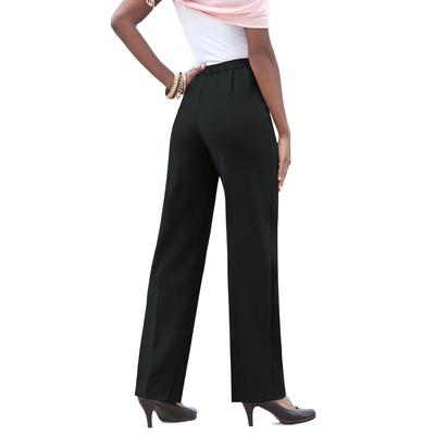 Plus Size Women's Classic Bend Over Pant by Roaman's in Black (Size 18 WP)