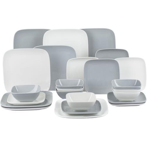 Retsch Arzberg Kombiservice Hampton, (24 tlg.) weiß Geschirr-Sets Geschirr, Porzellan Tischaccessoires Haushaltswaren