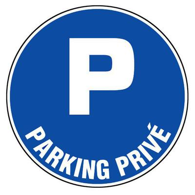 Panneaux d'obligations ronds 300 mm ''Parking privé'' - NOVAP - 4060446